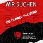 AB SOFORT! Co-Trainer F Jugend gesucht.